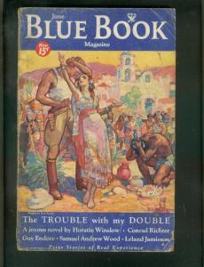 BLUE BOOK PULP-6/1934-GUY ENDORE HORROR ISSUE-DARKTOWN- G