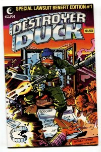 Destroyer Duck #1 1st appearance of GROO-1982-comic book