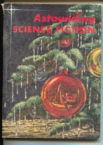 Astounding Science Fiction 1/1955-Kelly Freas cover & interior art-pulp thril...