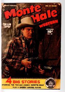 MONTE HALE COMICS #40-1949-B WESTERN MOVIE COMIC BOOK-PHOTO COVER-FAWCETT P VG-