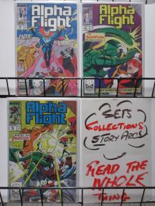 ALPHA FLIGHT  (Marvel, 1983) #78-80 VF-NM Acts Of Vengeance x-over, Dr. Strange!