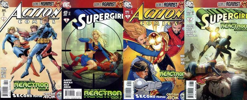 SUPERGIRL HUNT FOR REACTRON (2009) Parts 1-4  complete!