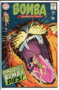 BOMBA THE JUNGLE BOY #5 1968-DC COMICS-TIGER COVER-vf
