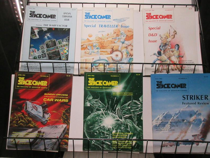 Space Gamer Magazine of Adventure Gaming Lot of 6Diff 1981-2 RPGs Metagaming C.