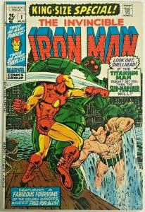 INVINCIBLE IRON MAN ANNUAL#1 FN/VF 1970 MARVEL BRONZE AGE COMICS
