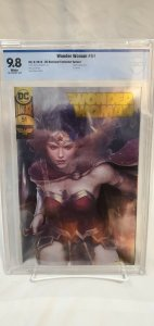 Wonder Woman #51 - CBCS 9.8 - DC Boutique Edition  - Artgerm Gold Foil Variant!