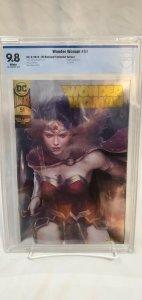 Wonder Woman #51 - CBCS 9.8 - DC Boutique Edition - Artgerm Gold Foil Variant!