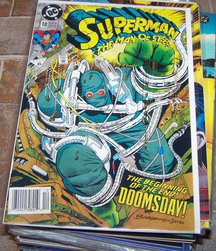 Superman The Man Of Steel 18 Dec 1992 DC KEY 1ST