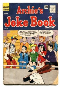Archie's Joke Book #73 1963-Betty and Veronica- Jughead- G