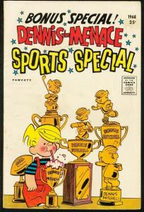 DENNIS THE MENACE GIANT #52 1968-SPORTS SPECIAL-FAWCETT VG