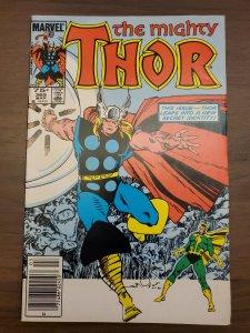 Thor #365 (Marvel 1986) Newsstand (5.0) 1st Throgg Thor as a Frog Walt Simonson