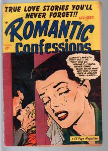 Romantic Confessions #10 1950-Hillman-love triangle-passion-emotions-VG+