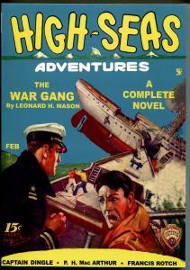 High-Seas Adventures 2/1935-High Adventure-pulp reprint-The War Gang-NM