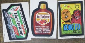 TOPPS WACKY PACKAGES-- 8th SERIES , MISSING THREE! 15 Doubles!
