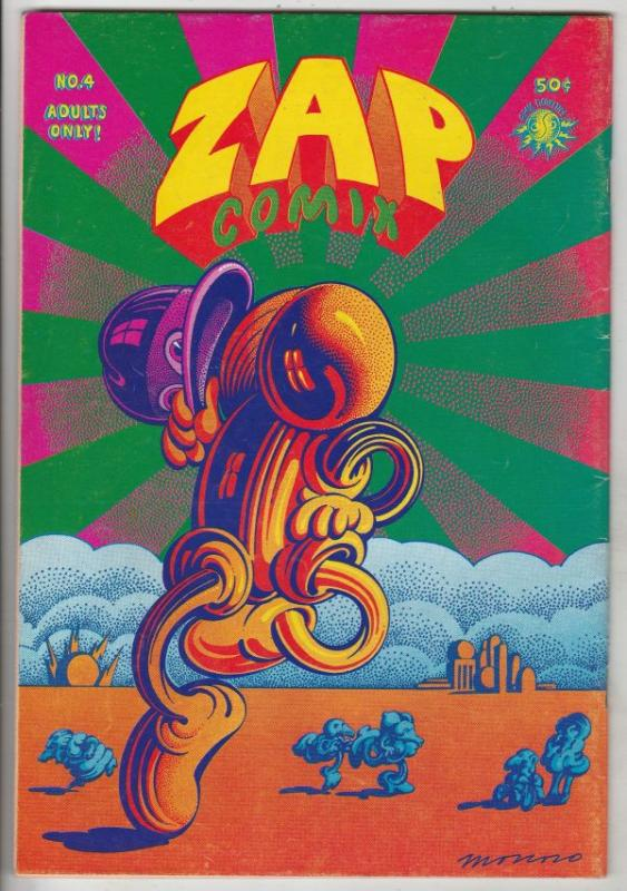 Zap #4 (Jan-68) FN/VF Mid-Grade Mr. Natural, Flakey Font, Wonder Wart Hog, th...