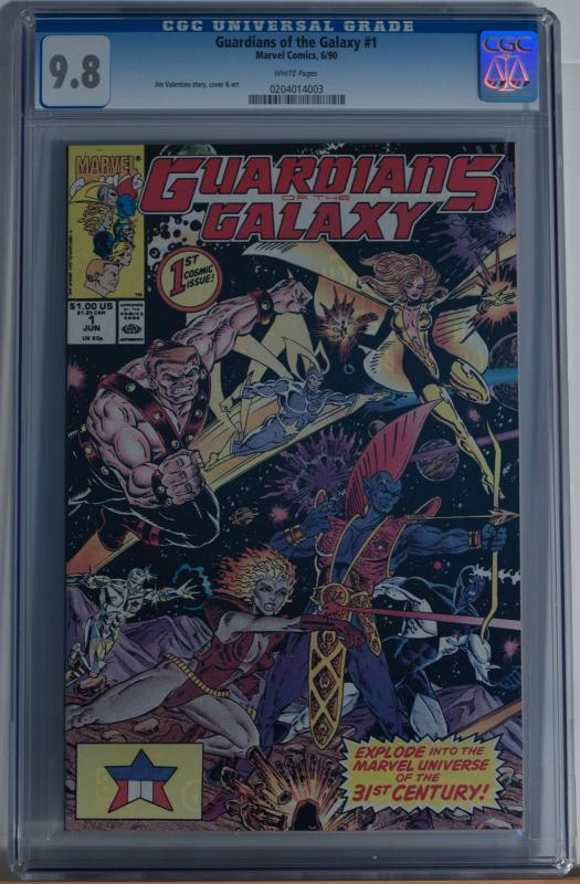 GUARDIANS of the GALAXY #1, CGC = 9.8, NM/M, Jim Valentino, 1990, more in store