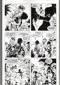 RONN SUTTON ELVIRA #148 ORIGINAL ART PAGE 14-BLACKHAWK PARODY--QUEEN 'B PROD FN