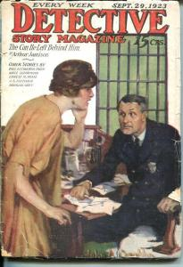 DETECTIVE STORY MAGAZINE-SEP 29 1923-LUHERMAN-FLETCHER-JAMISON--good G