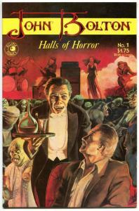 John Bolton HALLS of HORROR #1 2, NM, Werewolf, Dinosaur, Demons, 1985