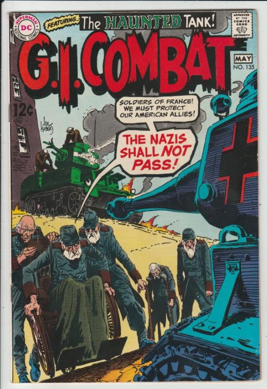 G.I. Combat #135 (May-69) NM- High-Grade The Haunted Tank