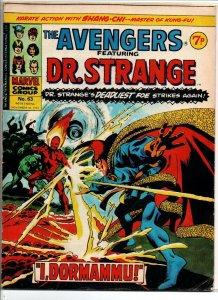 Avengers #68 - Dr Strange - Marvel UK - Magazine Size - 7p - 1975 - FN/VF