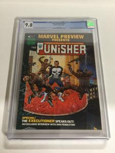 Marvel Preview 2 CGC 9.8 OW/W Pages 1st Origin Of Punisher 1st Dominic Fortune