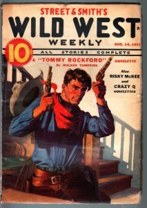 WILD WEST WEEKLY-8/14/1937-PULP-TOMMY ROCKFORD-RISKY MCKEE FN