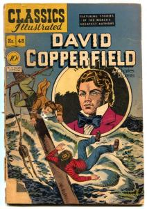 Classics Illustrated #48 HRN 47-DAVID COPPERFIELD-1st ed G