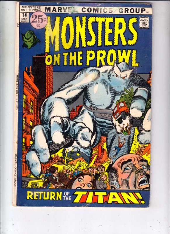 Monsters on the Prowl #14 (Dec-71) FN Mid-Grade