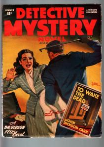 DETECTIVE MYSTERY NOVEL SUM 1947-HARD BOILED PULP-VG/FN-MAN BEATS WOMAN O VG/FN