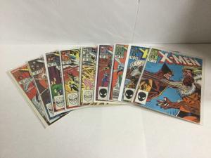 Uncanny X-Men 222-230 Lot Set Run Vf-Nm Very Fine-Near Mint Marvel Comics