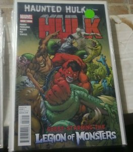 HULK #  52 2012 MARVEL RED HULK GENERAL ROSS +LEGION OF MONSTERS MORBIUS