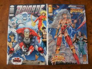 2 IMAGE Comic Book:BRIGADE #1 (Blood Brothers) & BRIGADE with GLORY #16
