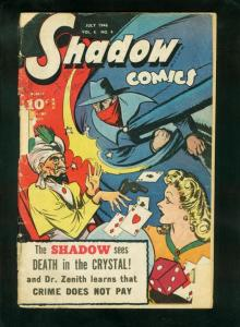 SHADOW COMICS v.6 #4 1946-SHADOW-DOC SAVAGE-PLAYING CARDS-fair/good FR/G