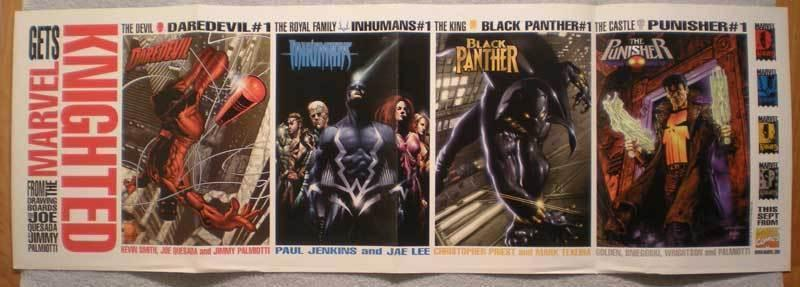 MARVEL GETS KNIGHTED Promo poster, 36x12, 1998, Unused, more Promos in store