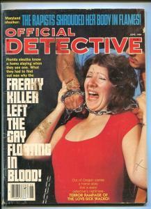 OFFICIAL DETECTIVE-06/1984-GAY-HOOKER-RAPIST-PARAPLEGIC-BUTCHERY-DISMEMBERED FR