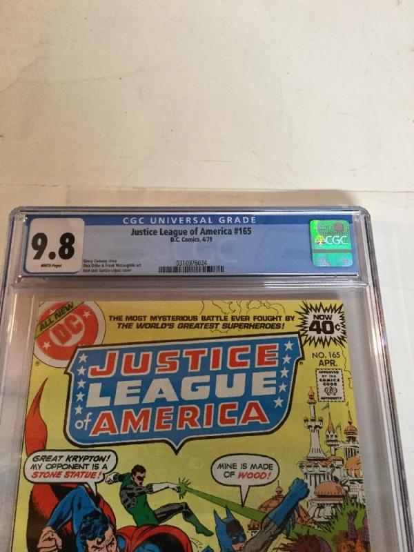 Justice League Of America 165 Cgc 9.8 White Pages Gerry Conway Story