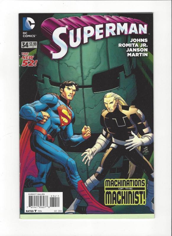 Superman  #34 DC Comics Jistice League New 52 Mint