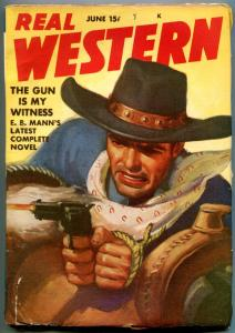 Real Western Pulp June 1942- Gun is My Witness- EB Mann VG/F