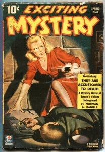 EXCITING MYSTERY #3-1943-ANTI NAZI PULP FICTION-JOSEF STALIN STORY & PHOTO-RARE