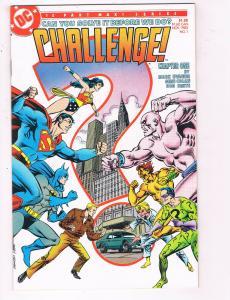 Challenge #1 VF DC Comics Comic Book Evanier JLA Superman Nov 1985 DE22