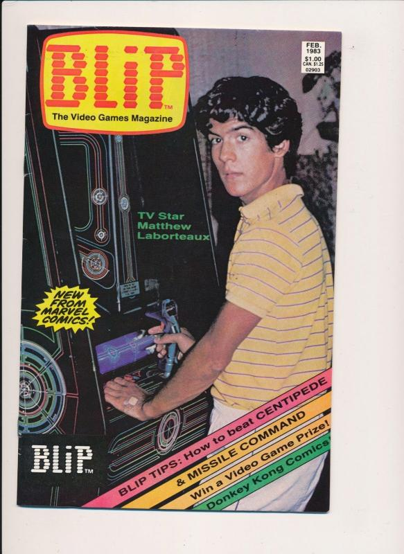 Marvel Comics BLIP Video Games Magazine #1 Laborteaux Cvr ~ F/VF 1983 (PF194)
