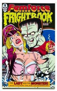 FEMFORCE FRIGHTBOOK #1 1992 Frankenstein cover-GGA-comic book