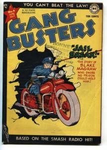 Gang Busters #4 1948-DC Comics-motorcycle-jail break-Capt Tootsie-CC Beck-FN