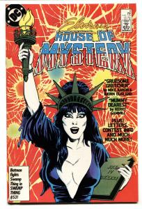ELVIRA'S HOUSE OF MYSTERY #8 1986 cool cover - comic book