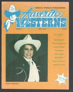 Favorite Westerns #11 1983-Penny Edwards photo cover-Kermit Maynard-Gunsmoke-...