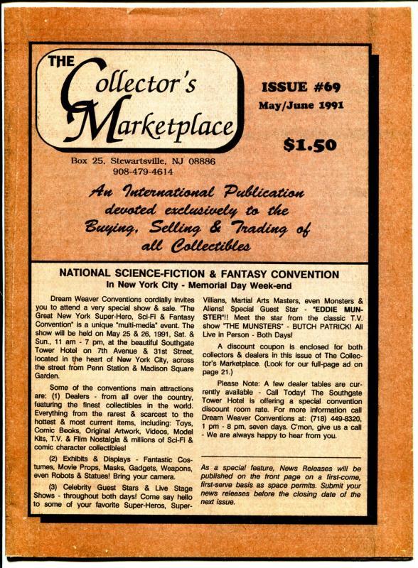 Collector's Marketplace #69 5/1991-adzine-VF