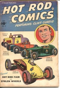 Hot Rod Comics-#5 1952-Fawcett-DRY LAKES ROADSTERS ON COVER-RACE CAR ART by P...