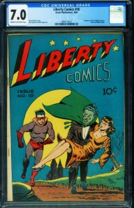 LIBERTY #10 CGC 7.0-1945-GREEN PUB HANGMAN-HORROR COVER 1994172015