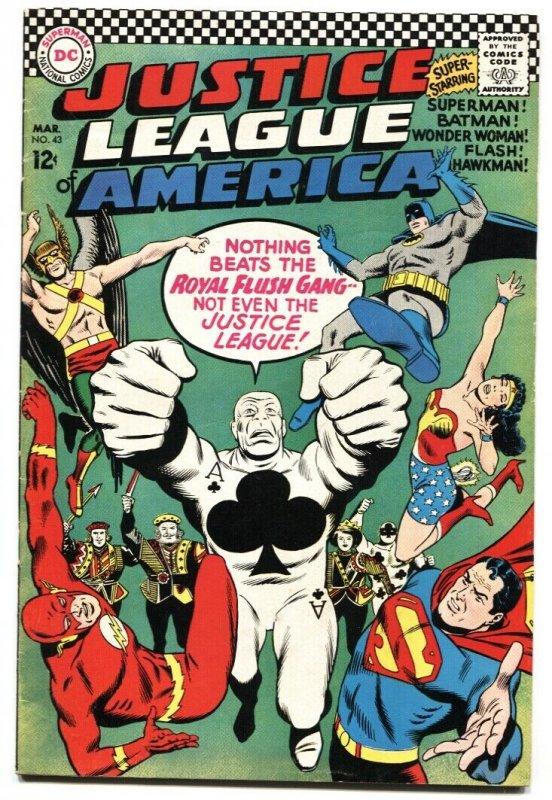 Justice League of America #43 comic book 1966-  Royal Flush Gang DC VF-
